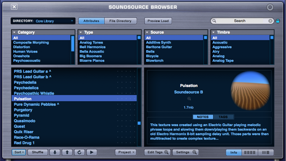 BROWSER - Soundsource Browser